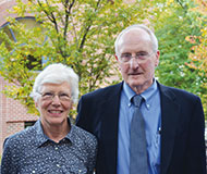 Photo of Peggy and Dick Burton '54. Link to their story.